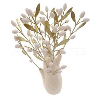 Κεραμικό Δέντρο Ψηλό Με Ορειχάλκινα Φύλλα