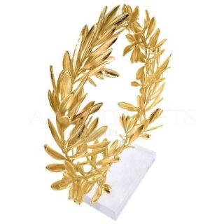 Αληθινό Στεφάνι Ελιάς Πλούσιο, Επικαλυμμένο Με Χρυσό, Small