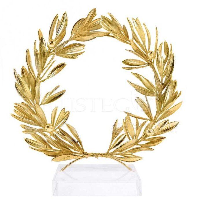 Αληθινό Στεφάνι Ελιάς Πλούσιο, Επικαλυμμένο Με Χρυσό, Medium
