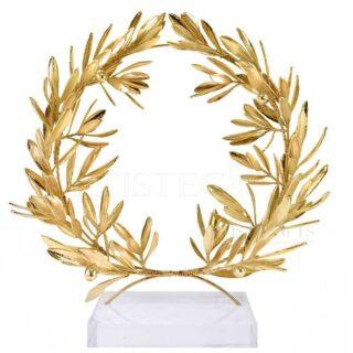 Αληθινό Στεφάνι Ελιάς Πλούσιο, Επικαλυμμένο Με Χρυσό, Large