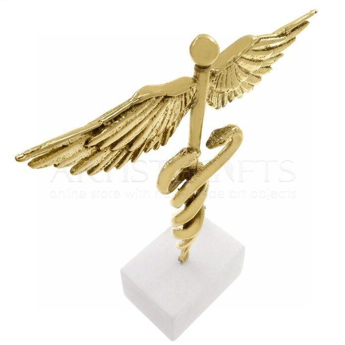 Σύμβολο Ιατρικής, Κηρύκειο Από Ορείχαλκο Σε Μάρμαρο