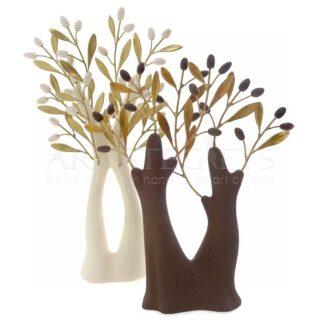 Σύνθεση Με Δίχρωμα Κεραμικά Δέντρα