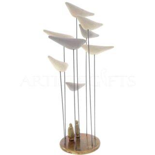 Κινητικό Μικρογλυπτό Με Ζευγάρι Πουλιά Σε Βάση