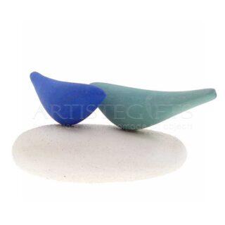 Κεραμικά Πουλιά Σε Μπλε και Πράσινο Χρώμα