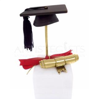 Διακοσμητικό Με Καπέλο Αποφοίτησης και Πτυχίο, δώρα αποφοίτησης, δώρα για ορκωμοσία, δώρα για πτυχιούχο, δώρο για πτυχία, καπέλο πτυχιούχου, πτυχίο, δώρο για μεταπτυχιακό, master, πρωτότυπα δώρα για πτυχιούχο