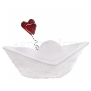 βάρκα με καράβι, ναυτικά δώρα, καρδιά, δώρα αγίου βαλεντίνου, δώρα για επέτειο, δώρα για ζευγάρι, δώρα για νέο σπίτι