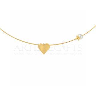 δώρα αγίου βαλεντίνου, καρδιά, κολιέ, μενταγιον, χρυσή καρδιά, δώρα για επέτειο, μαραγριτάρι