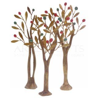 Σύνθεση Τρία Δέντρα Με Πολύχρωμους Καρπούς