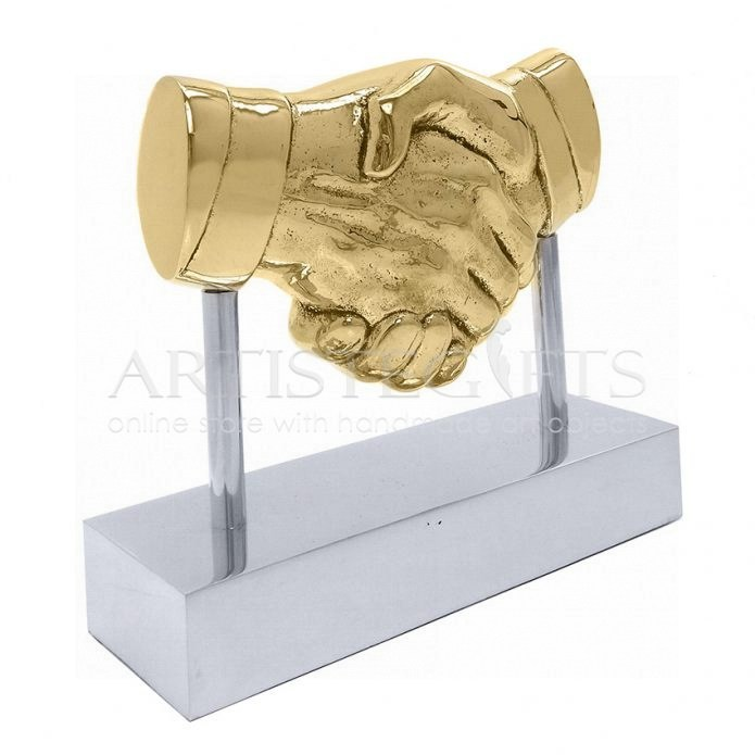 Γλυπτό Χειραψία - Συμφωνία